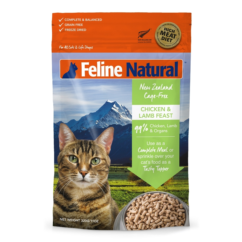 Feline Natural Chicken Amp Lamb Feast Raw Freeze Dried Cat