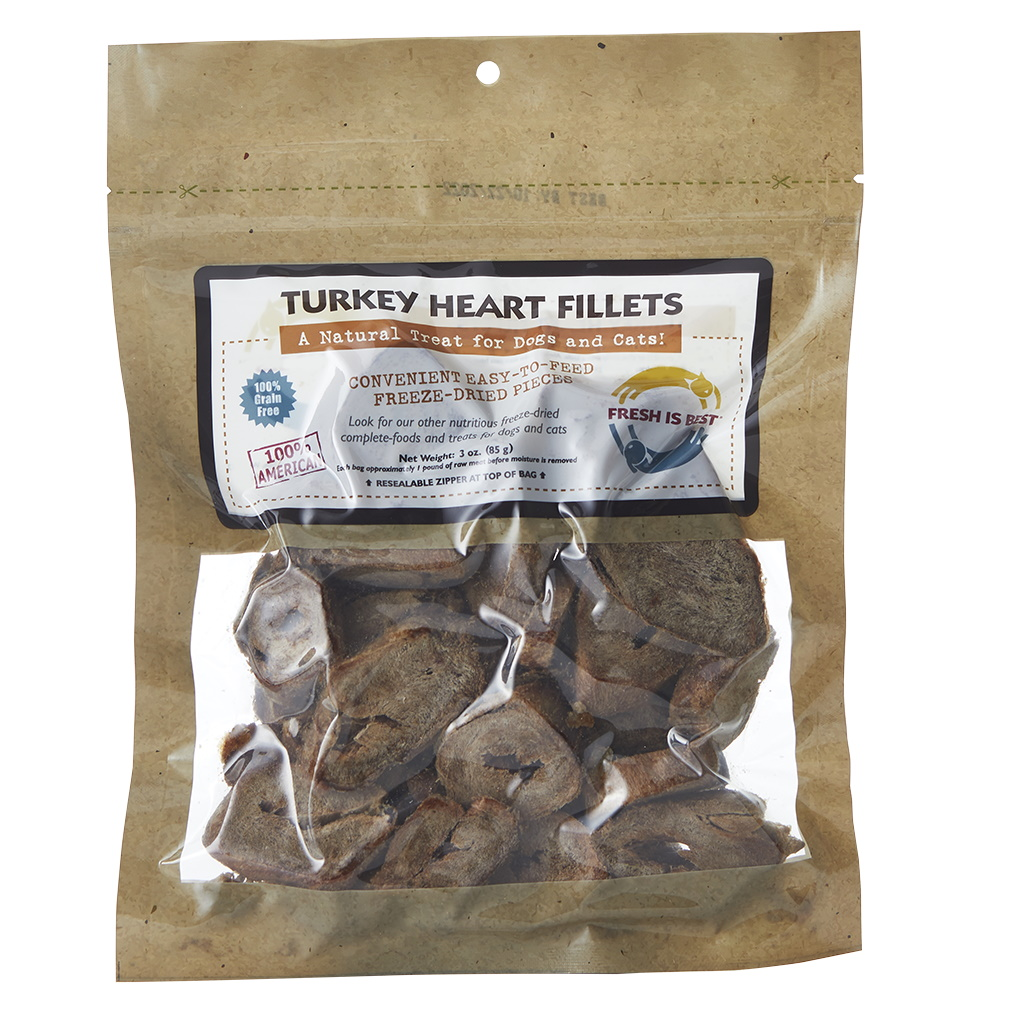 Fresh Is Best Freeze Dried Turkey Hearts For Dogs