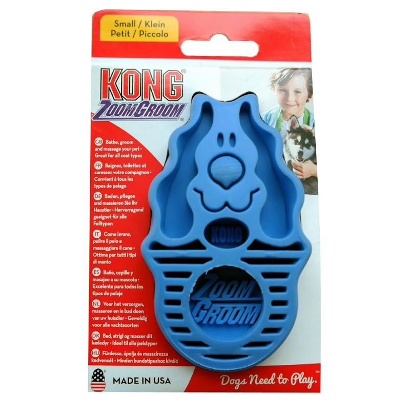 Kong Zoom Groom For Dogs Blue Naturalpetwarehouse Com