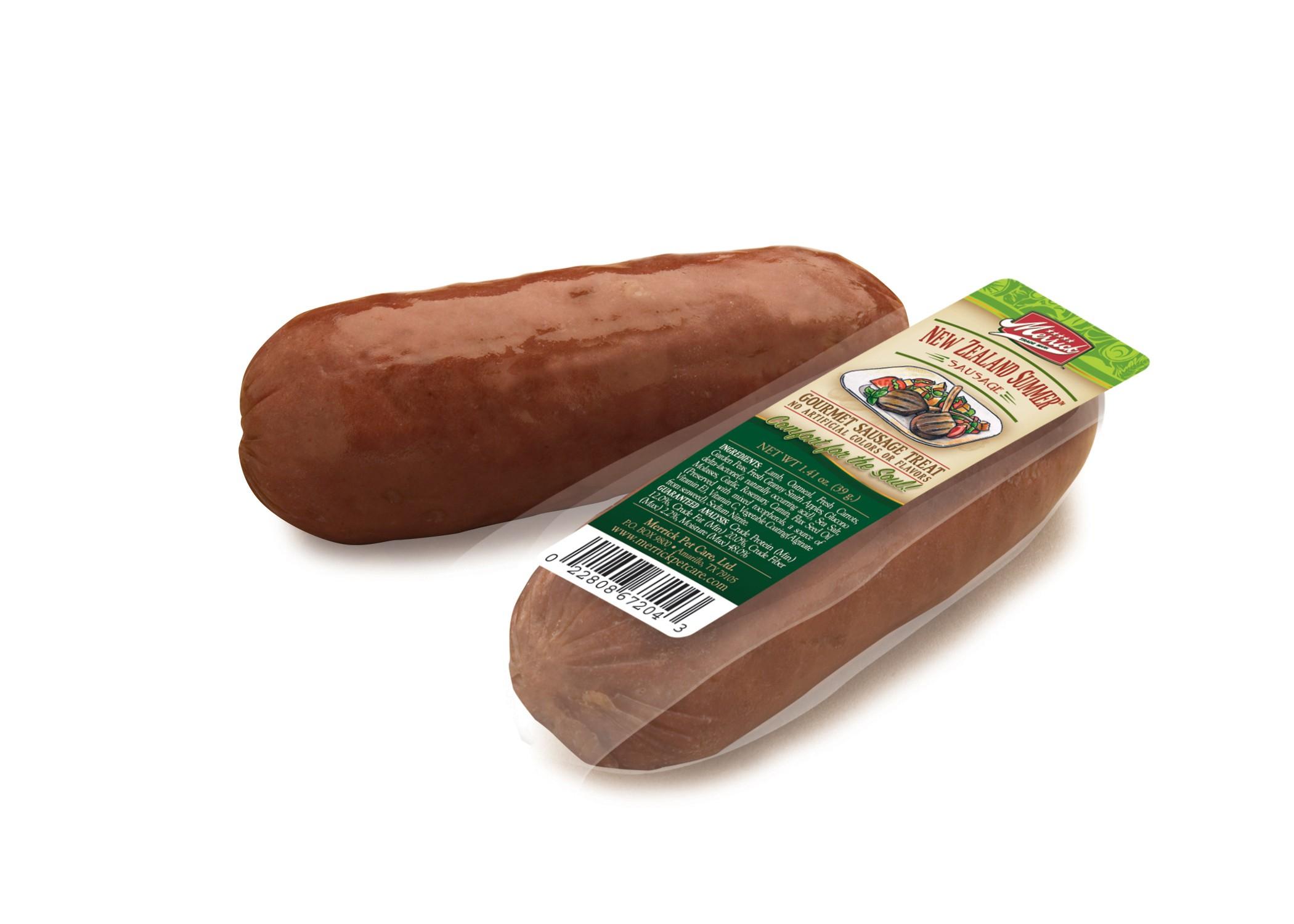 merrick new zealand summer sausage dog treat case of 34. Black Bedroom Furniture Sets. Home Design Ideas