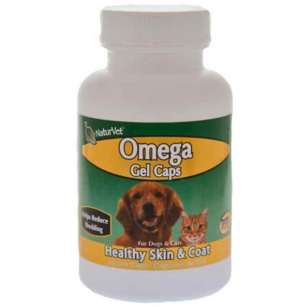 Naturvet omega fish oil gel caps dog supplement 60 count for Fish oil capsules for dogs