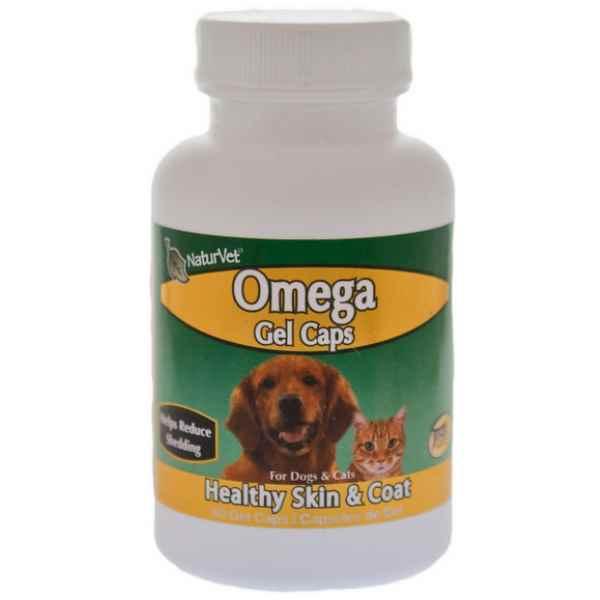 Naturvet omega fish oil gel caps dog supplement 60 count for Dog fish oil