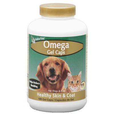 Naturvet omega fish oil gel caps dog supplement 180 count for Dog fish oil