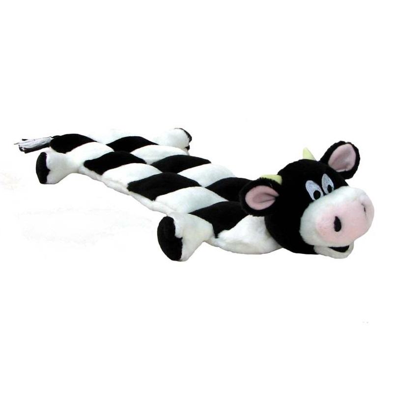 Kyjen Squeaker Mat Long Body Cow Dog Toy Large