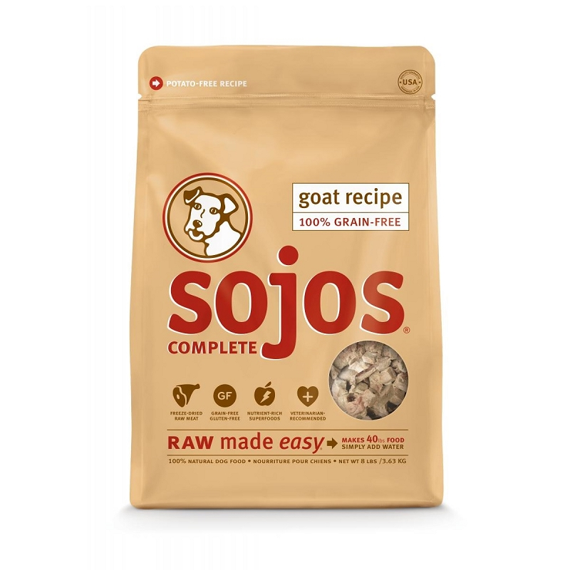 Sojos complete goat recipe freeze dried dog food 8 lb for Cuisines completes