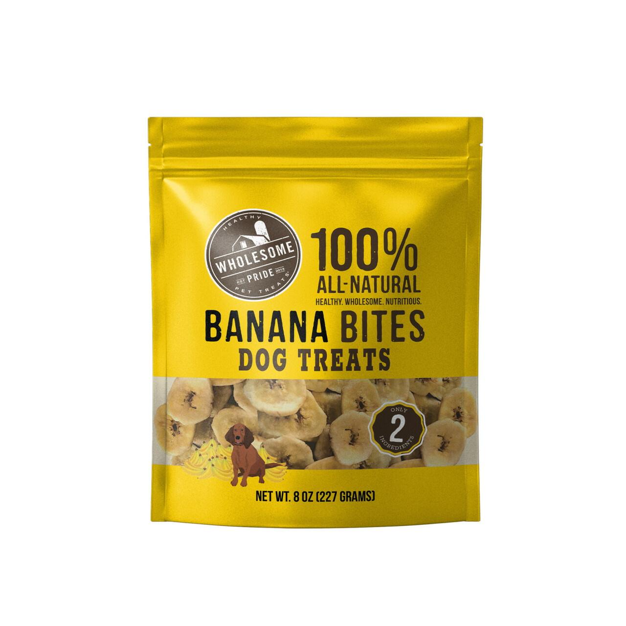 Home > Dog Treats > Wholesome Pride Banana Bites Dog Treats