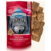 Blue Buffalo Wilderness Trail Treats Salmon Biscuits Grain-Free Dog Treats