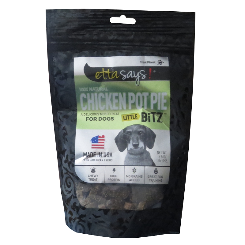 etta says chicken pot pie Etta says little bitz chicken pot pie treats are a high protein and low calorie treat made with no artificial ingredients or fillers these treats use only.