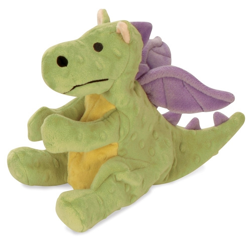 Godog Lime Green Baby Dragon Dog Toy With Chew Guard