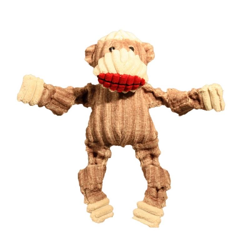 Stuffed Monkey Dog Toy Sock Monkey Dog Toy
