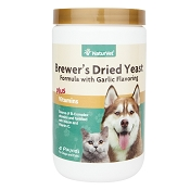 NaturVet Brewer's Dried Yeast Formula with Garlic Dog & Cat Powder Supplement, 4 lb