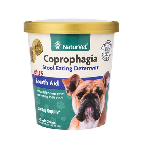 gt naturvet coprophagia stop eating poop soft chews for dogs