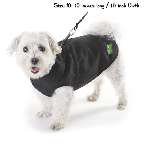 Pawz Black Z Coat With Built In Dog Harness Video