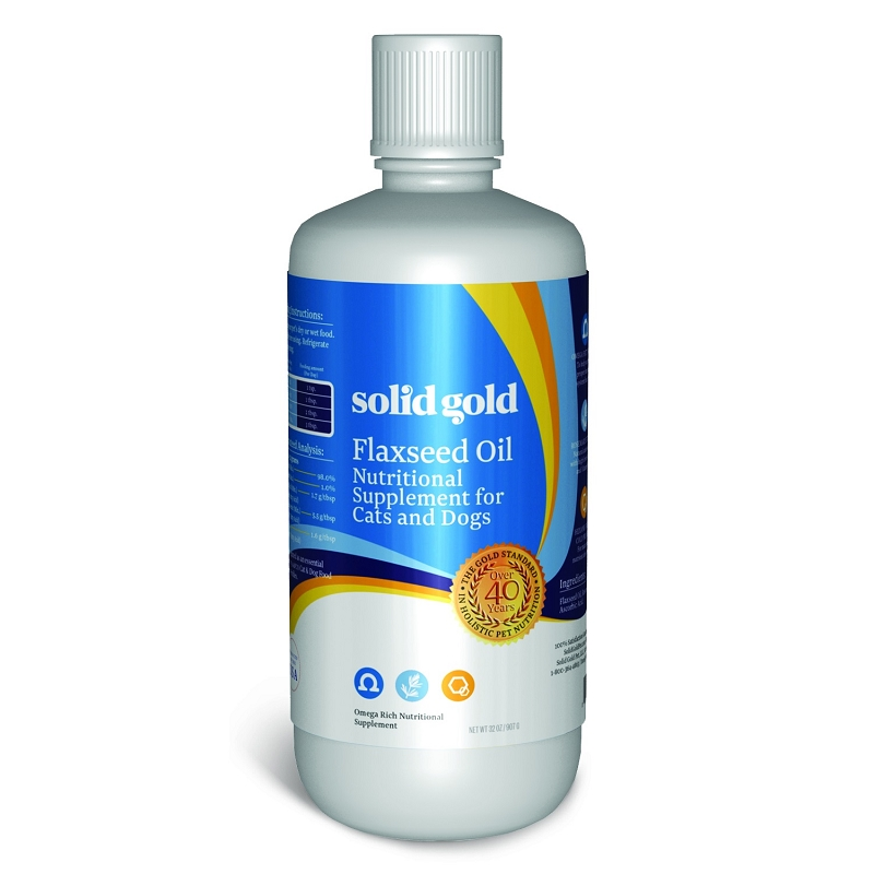 Solid Gold Flaxseed Oil Dog Amp Cat Supplement 32 Oz Bottle