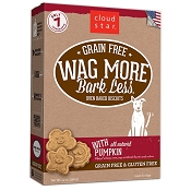 Cloud Star Wag More Bark Less Grain-Free Oven Baked with Pumpkin Dog Treats, 14-oz box