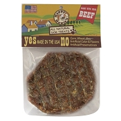 "Happy Howie's 4"" Beef Burger Dog Treats, 2 Pack"