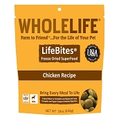 Whole Life LifeBites Chicken Recipe Freeze-Dried Dog Food, 16-oz bag