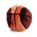 Ethical Spot Plush Dog Toy Basketball - 4.5""