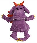 HuggleHounds Knotties Puff the Dragon Dog Toy Extra Large - Purple