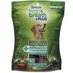 TropiClean Fresh Breath + Plus Advanced Cleaning System Dental Dog Treats - Regular 10 Count