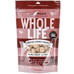 Whole Life Pure Beef Liver Freeze-Dried Dog Treats 21 oz