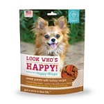 Look Who's Happy Wraps Sweet Potato with Turkey Recipe Dog Treats
