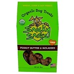 Snicky Snaks Peanut Butter & Molasses Recipe Organic Dog Treats - Large