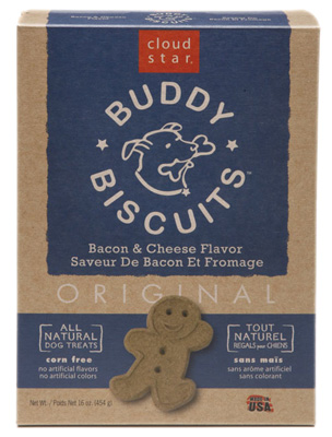 Cloud Star Oven Baked Buddy Biscuits Bacon & Cheese Flavor Dog Treats