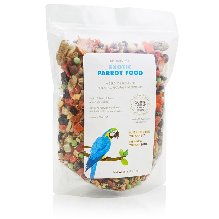 dr harvey 39 s exotic parrot food 2 lb bag. Black Bedroom Furniture Sets. Home Design Ideas
