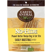 Earth Animal No-Hide Peanut Butter Recipe Stix Dog Treats, 10 Pack