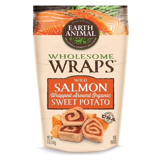 Earth animal wholesome wraps wild salmon sweet potato recipe dog treats - New potatoes recipes treat ...