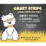 Einstein Pets Sweet Potato + Banana Jerky Dog Treats, 4.5-oz Bag