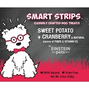 Einstein Pets Sweet Potato + Cranberry Jerky Dog Treats, 4.5-oz Bag