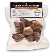 Fresh is Best Freeze-Dried Turkey Heart Nuggets Dog Treats, 3-oz Bag