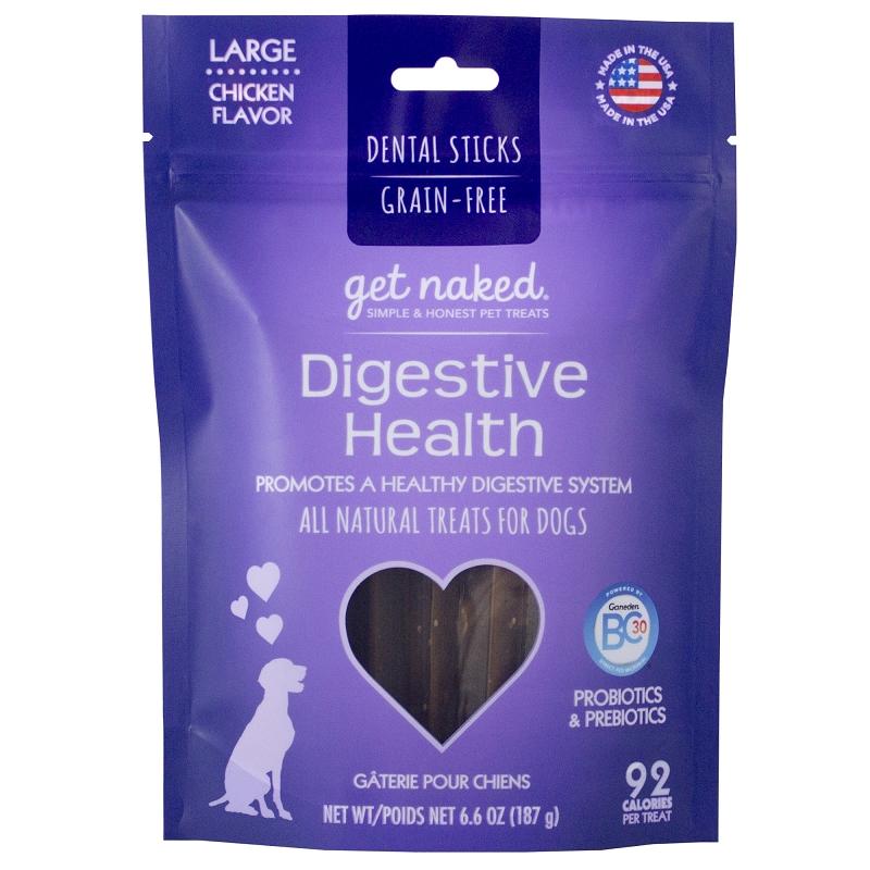 Get Naked Digestive Health Grain-Free Dental Chew Sticks