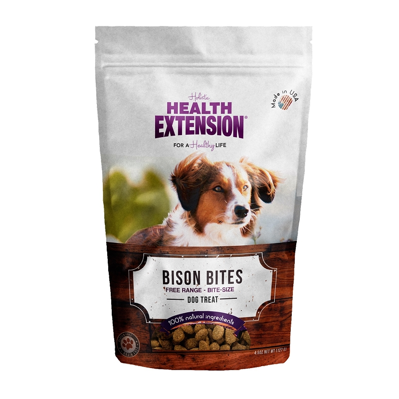 Health Extension Holistic Bison Bites Dog Treats