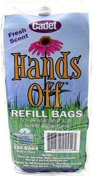 Hands Off Dog Waste Bags Refill 8 Pack - Blue