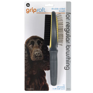 JW Pet Double Sided Dog Brush