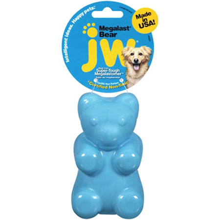 JW Pet Megalast Bear Dog Toy, Medium