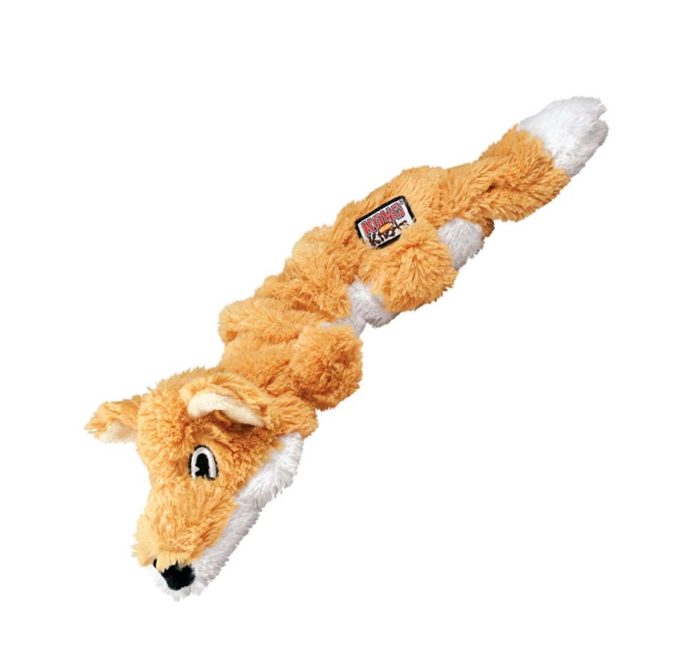 Large Toy Dogs : Kong scrunch knots fox dog toy medium large