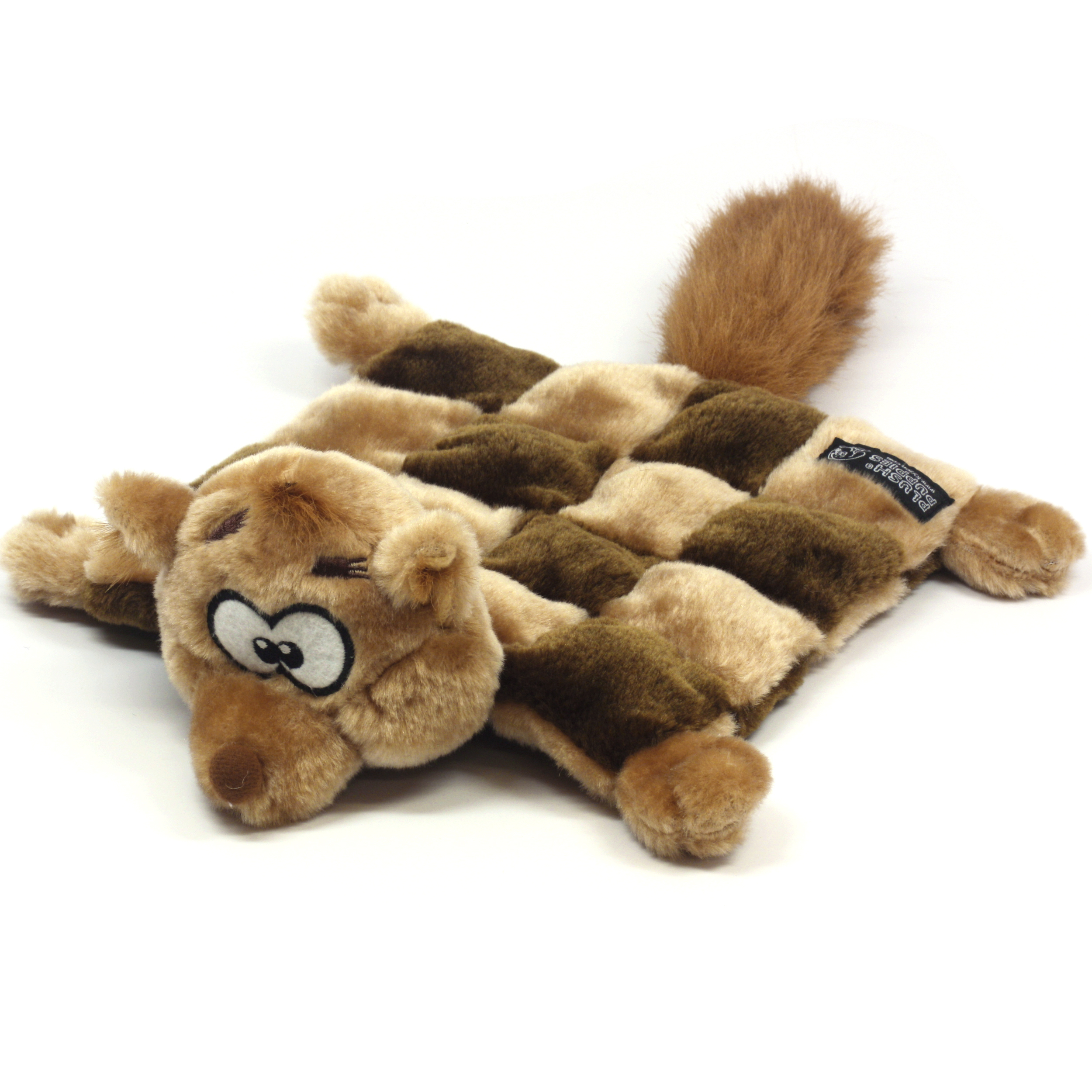 Kyjen Plush Squeaker Mat Squirrel Dog Toy Small