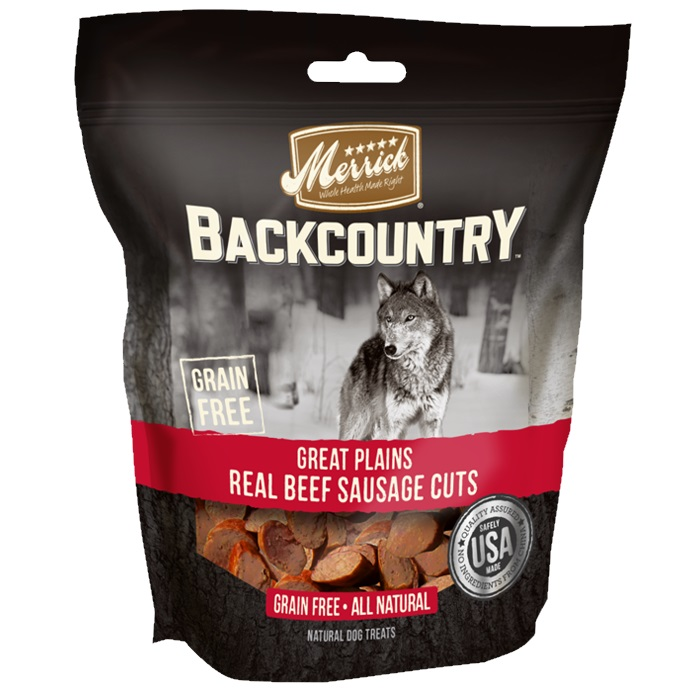 merrick backcountry great plains real beef sausage cuts dog treats. Black Bedroom Furniture Sets. Home Design Ideas