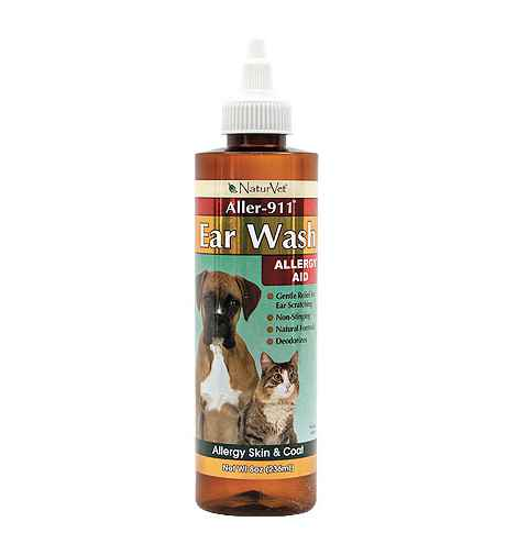 NaturVet Aller 911 Allergy Aid Dog and Cat Ear Wash