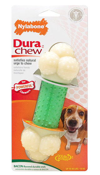 Nylabone DuraChew Double Action Chew Dog Toy, Wolf Size