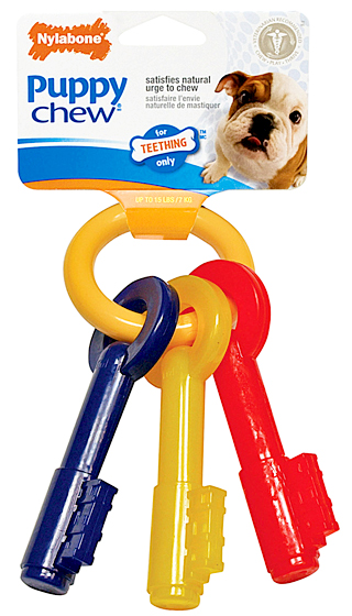 nylabone puppy teething keys dog chew toy small. Black Bedroom Furniture Sets. Home Design Ideas