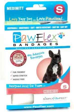 Pawflex Non-Adhesive Medimitt Bandages for Pets - Small