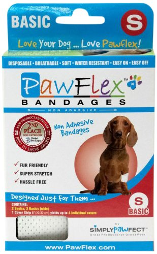 Pawflex Non-Adhesive Basic Bandages for Pets - Small