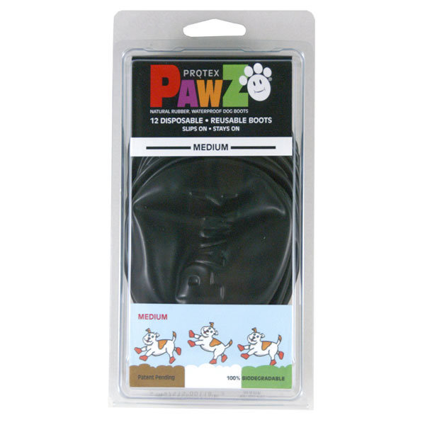 Pawz Medium Black Waterproof Dog Boots
