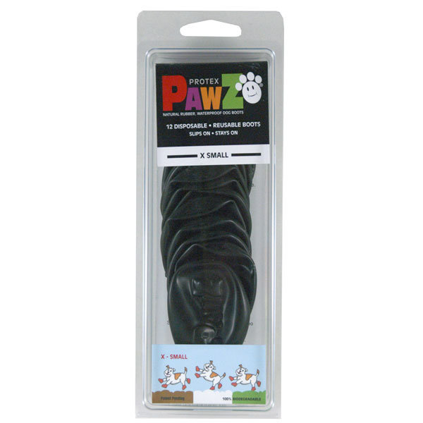 Pawz Extra-Small Black Waterproof Dog Boots