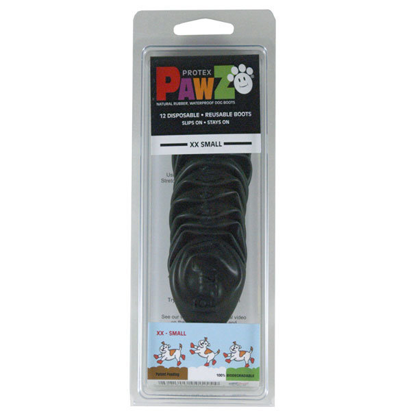 Pawz XX-Small Black Waterproof Dog Boots